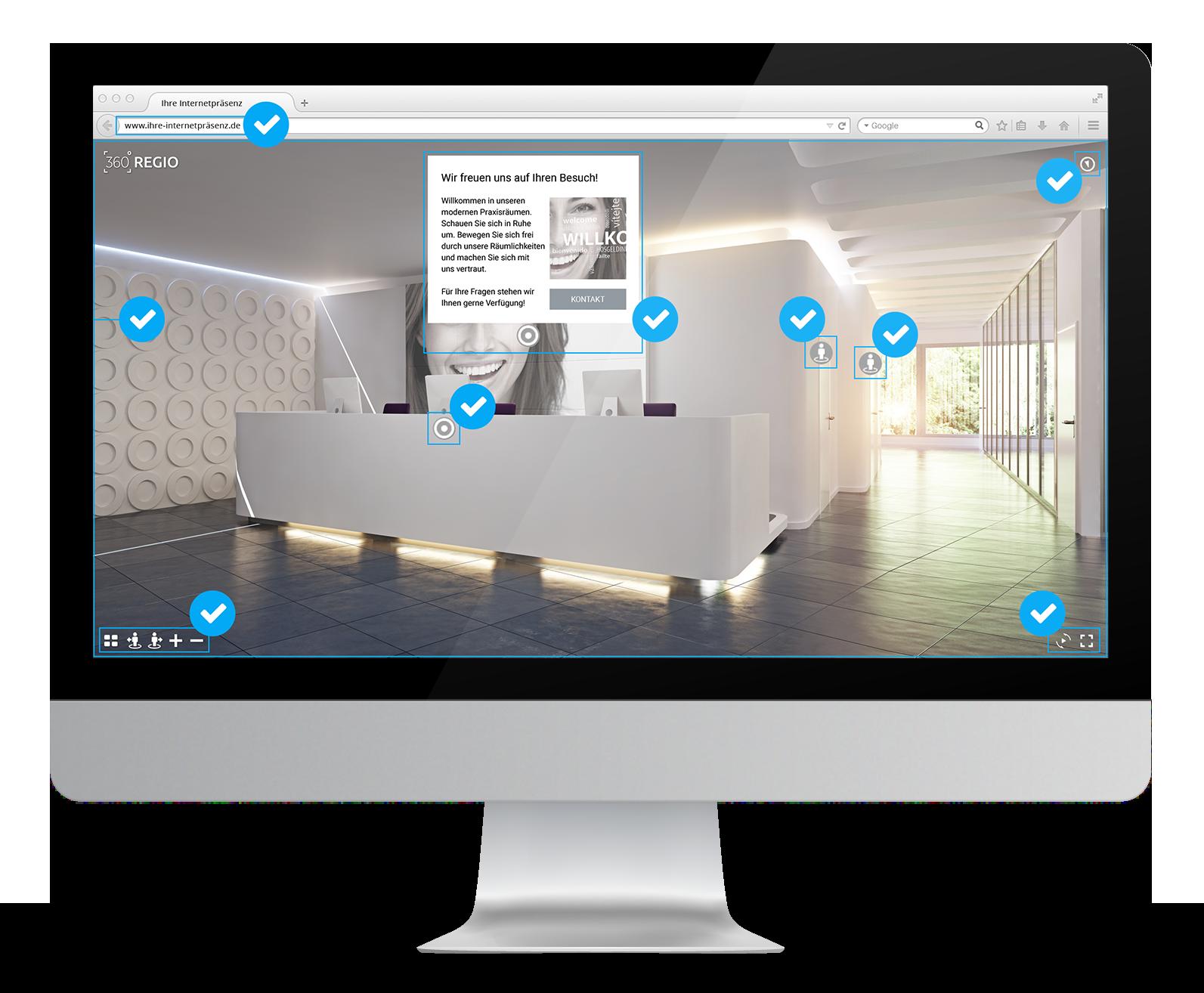 360º REGIO kümmert sich von 1 bis Z bei der Erstellung Ihres Onlinerundgangs.